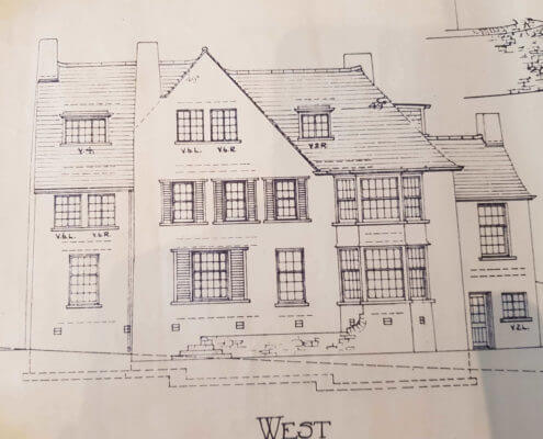 Ilkeston Surveyors. Building Plan of an old traditional house